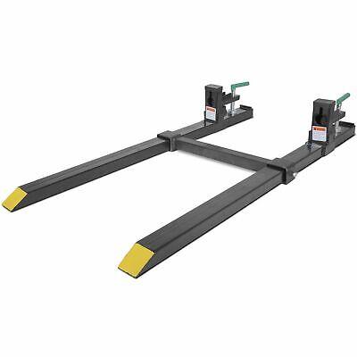 43 Lw Clamp On Pallet Forks 1500 Lb Capacity W Stabilizer Bar Titan