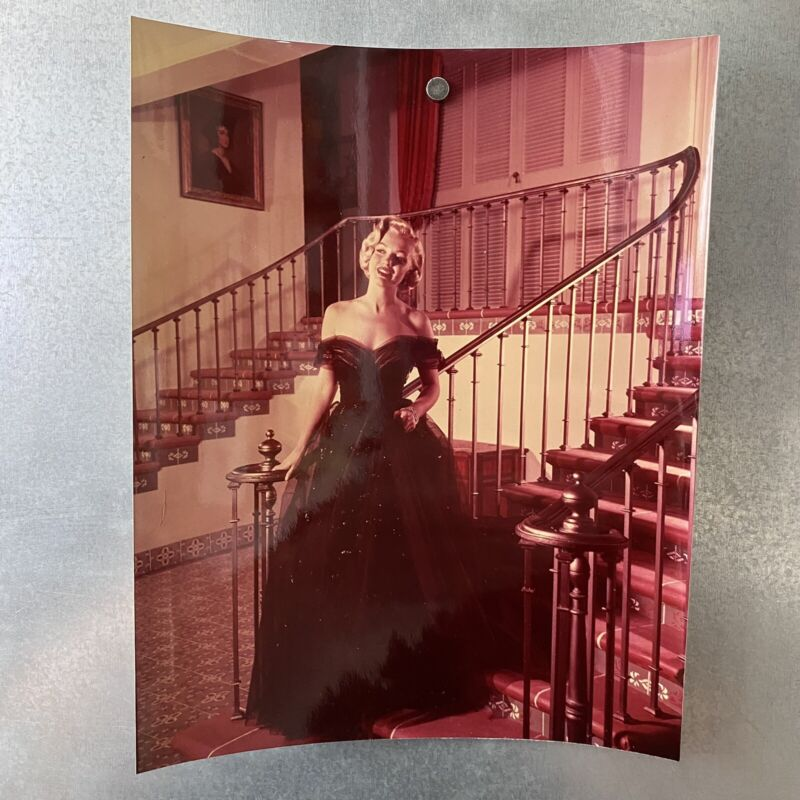 RARE Original 8x10 Still Marilyn Monroe In Oscars Ballgown Dress On Stairs