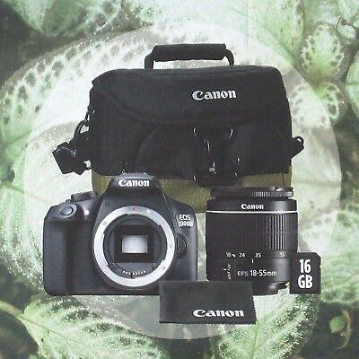 CANON EOS 1300D Spiegelreflexkamera WLAN Schwarz Zubehörpaket + 18-55mm Objektiv