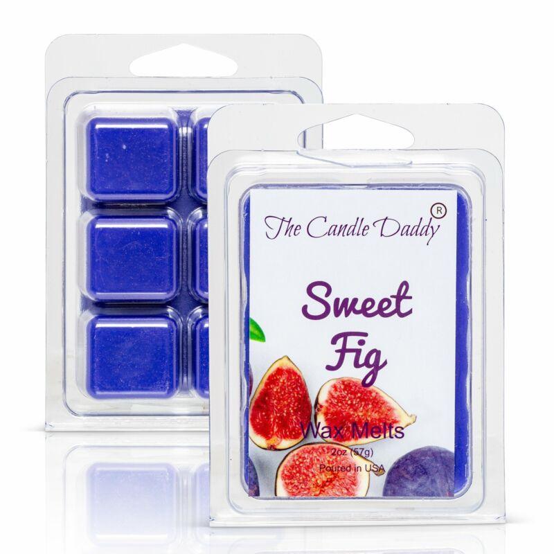 Sweet Fig Scented Melt- Maximum Scent Wax Cubes/Melts- 1 Pack -2 Ounces- 6 Cubes