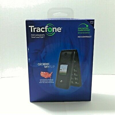 Tracfone Alcatel My Flip MyFlip A405 Prepaid Basic Cell Phone New Sealed