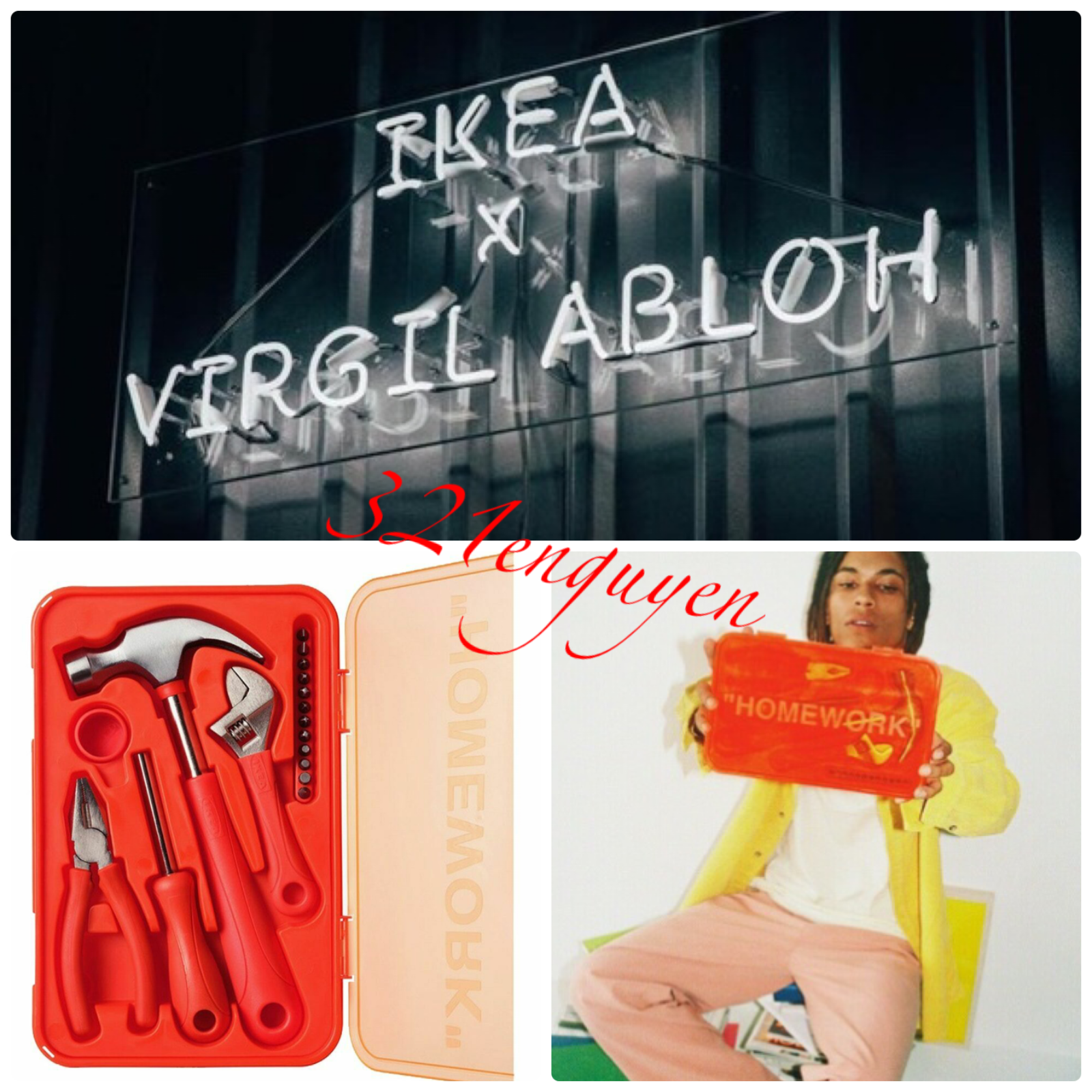 NEW Ikea X Off White Virgil Abloh MARKERAD Tool Kit Box /'Homework/' SOLD OUT