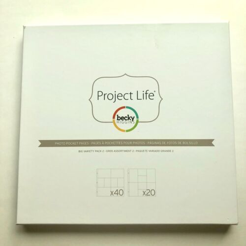 12 x12 Photo Pocket Pages PROJECT LIFE BIG Variety 60-Pk