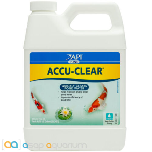 API Pond Accu-Clear 32oz Quickly Clears Pond Water Fish Plant and Wildlife Safe
