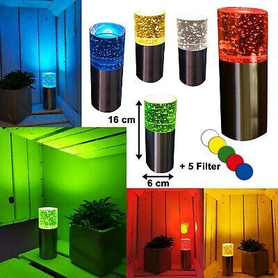 LED Tischleuchte Dekoleuchte Dekolampe RGB Bunt Glas Farbwechsel Jorg 16cm