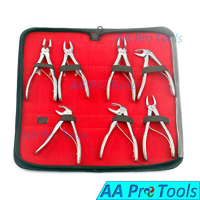 Dental Children Tooth Teeth Extraction Forceps -dentist Surgery Tool 7 Pcs Set