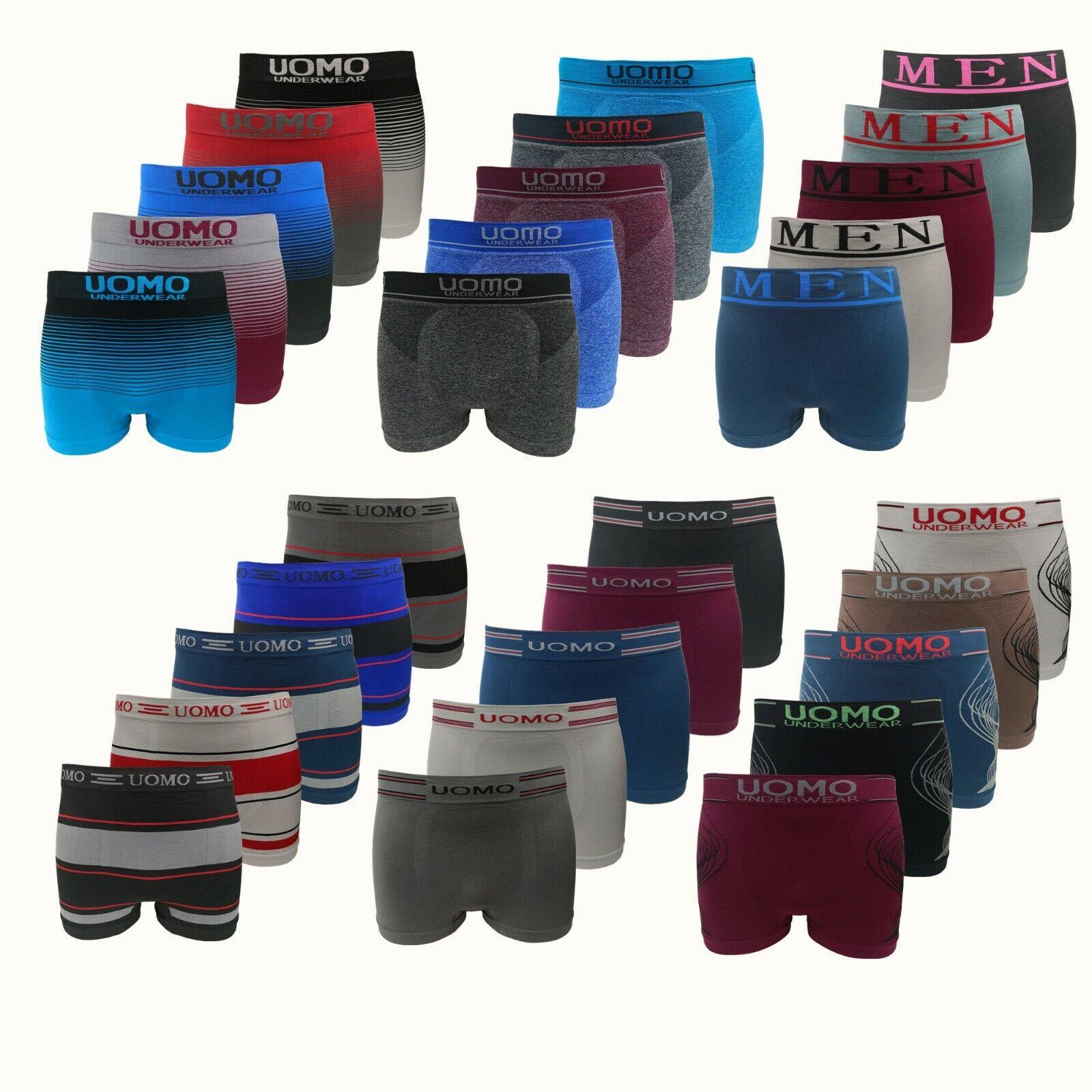 10er UOMO Boxershorts Retroshort Pants Unterwäsche Unterhose Herren Microfaser