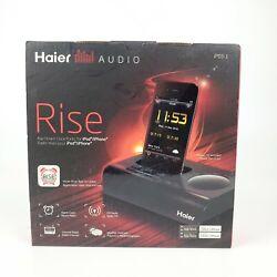 Haier Audio IPDS-1 Rise Docking Station Alarm Clock FM Radio for iPod iPhone