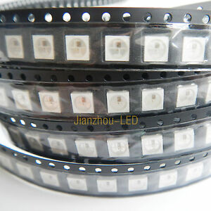New-100PCS-WS2812B-IC-Built-in-5050-RGB-LED-Individually-Addressable-Fullcolor
