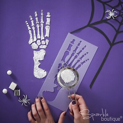 Adult Halloween Party Decorations (SKELETON FOOT STENCILS (2 x Feet) - Halloween Party Decoration -)