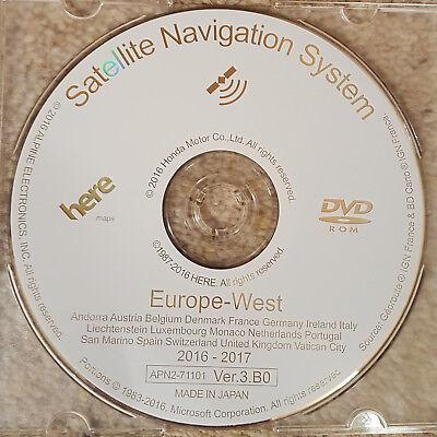 2016-2017  HONDA SAT NAV DVD NAVIGATION MAP UPDATE DISC VER.3.B0 WEST