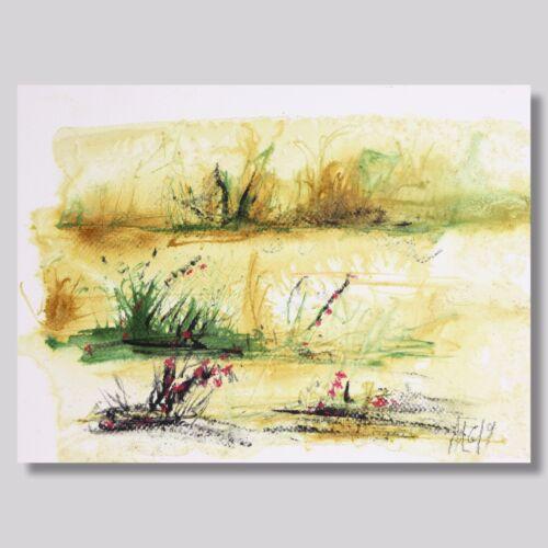 """ZEICHNUNG """"Landschaft"""" TUSCHE 29 cm Andreas Loeschner-Gornau"""