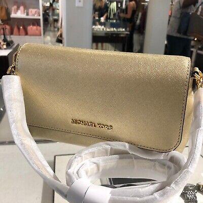 Michael Kors Women Medium Leather Crossbody Bag Handbag Purse Messenger Shoulder