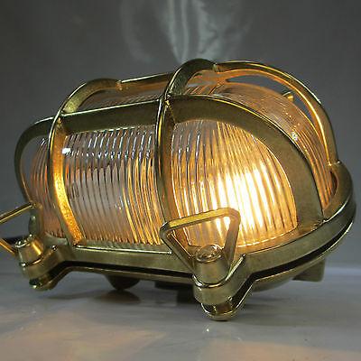 """SCHIFFSLAMPE """"SCHILDKRÖTE"""" MASCHINENRAUM LAMPE DECKLAMPE MESSING KAJÜTEN LAMPE"""
