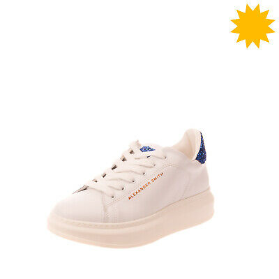 RRP €170 ALEXANDER SMITH Leather Sneakers EU 39 UK 6 US 9 Glitter Made in Italy