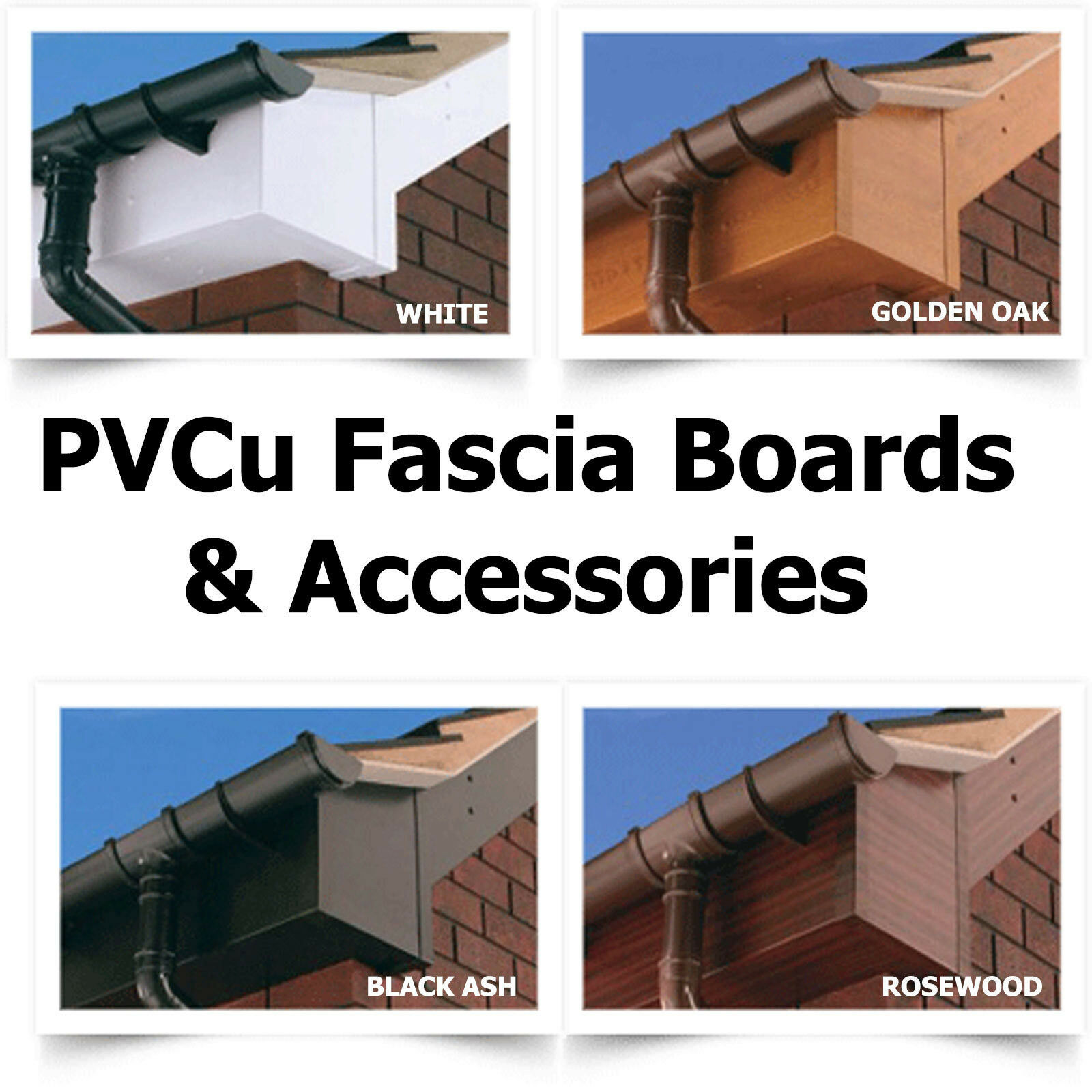 Pvc Fascia Board Capping 125mm To 300mm Wide 9mm Thick