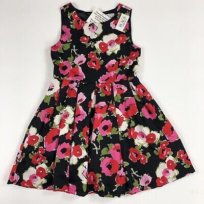 The Childrens Place Girls Floral Sleeveless Fit & Flare w Tulle Dress Sze 10 NWT