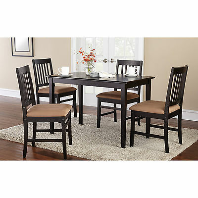 5 Piece Kitchen Dining Set Wood Breakfast Furniture 4 Chairs and Table Dinette