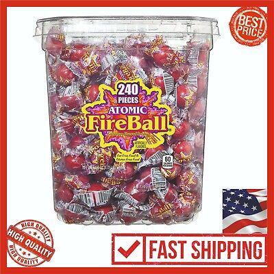 Fireballs Candy Bulk Bag 240 Balls 1.84kg Atomic Sweet Children Friends Gift