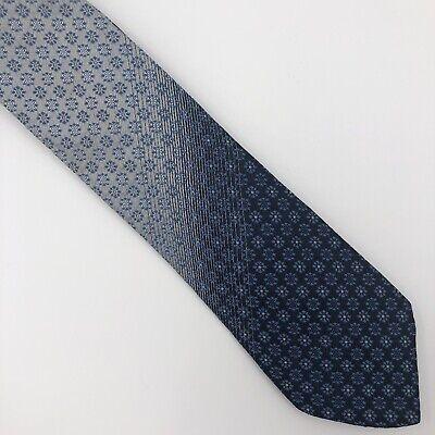 "Baron's Men's Tie Vintage Shades Of Blue Mini Flower Motif All Silk L: 54"" (Miami Blues Shades)"