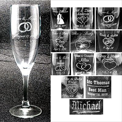 Personalized Toasting Flutes - Champange Glasses Engraved Wedding Party Gifts - Engraved Wedding Flutes