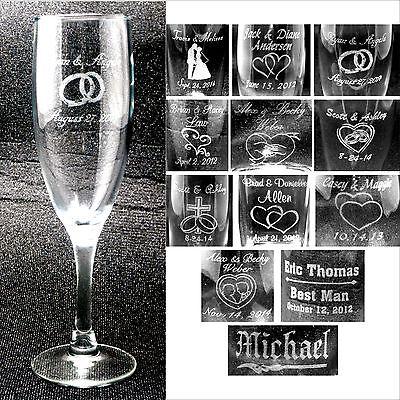 Personalized Toasting Flutes - Champange Glasses Engraved Wedding Party (Personalized Party Glasses)