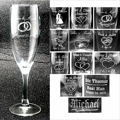 Personalized Toasting Flutes - Champange Glasses Engraved ...
