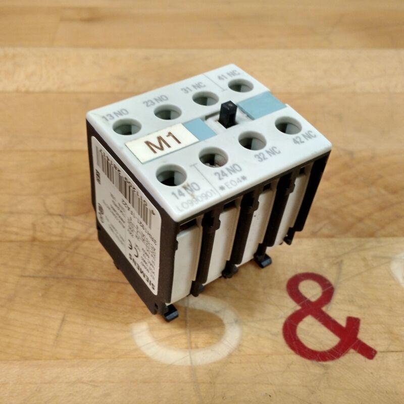 Seimens 3RH1921-1FA22 Auxillary Contact Block, 10 Amp, 240V - USED