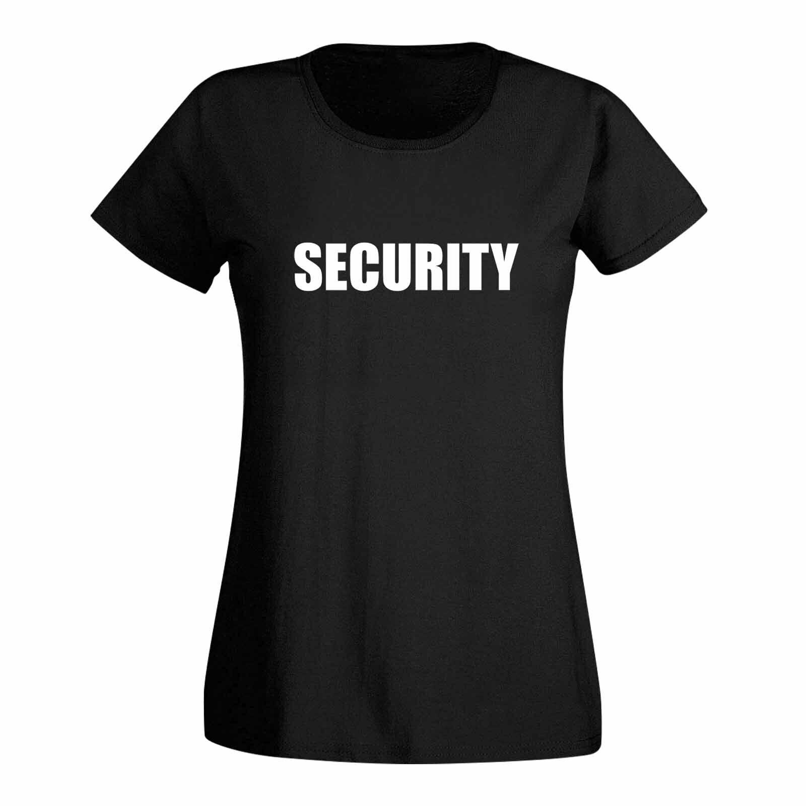 T-Shirt Security Sicherheitsdienst Party Sicherheit 15 Farben Damen XS - 3XL