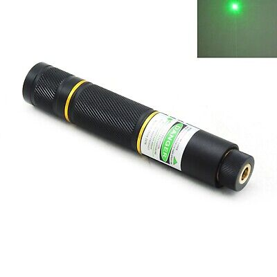 Green Dot Laser Pointer 515nm 520nm Focusable Portable Torch Battery Led