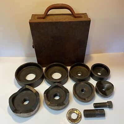 Greenlee Knock Out Punch And Die Set 2 12 To 4 With Draw Stud In Metal Case