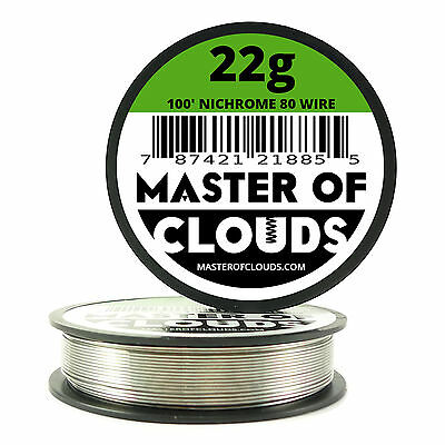 Nichrome 80 - 100 ft. 22 Gauge AWG Round Resistance Wire 0.64 mm 22g GA 100'