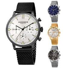 Men's Akribos XXIV Quartz AK1027 Chronograph Date Mesh Bracelet Watch