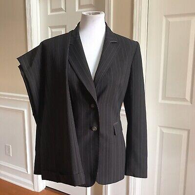TAHARI Women 2 PC Brown Striped Pant Suit Size 10