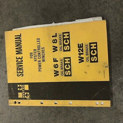 Hyster W6f W8l Winch Towing Dozer Parts Instruction Manual