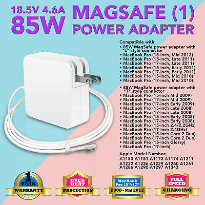 """85W AC Adapter Charger for Apple MacBook Pro 15"""" 17"""" A1172 A1261 A1281 A1286"""