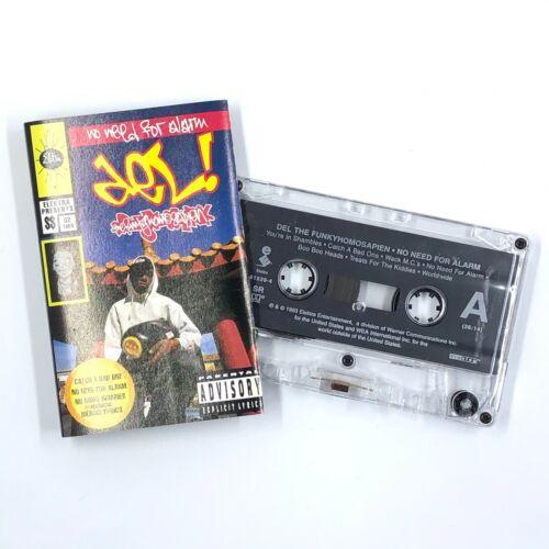 DEL THA FUNKEE HOMOSAPIEN No Need For Alarm Cassette Tape 1993 Rap Hip-Hop Rare
