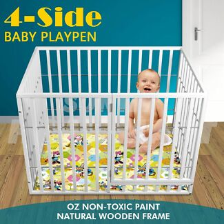 NEW NATURAL WOODEN BABY PLAYPEN FENCE ENCLOSURE FOR KIDS Richlands Brisbane South West Preview