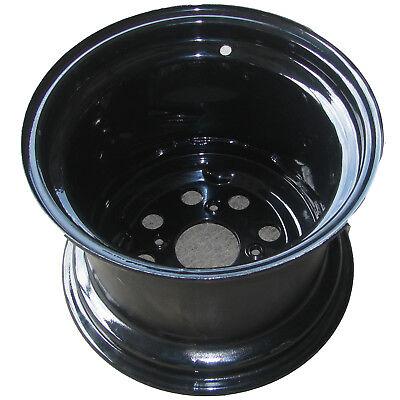 ATV RIM WHEEL 12x8.5 4/110 Black high negative offset 10mm stud holes for SRA