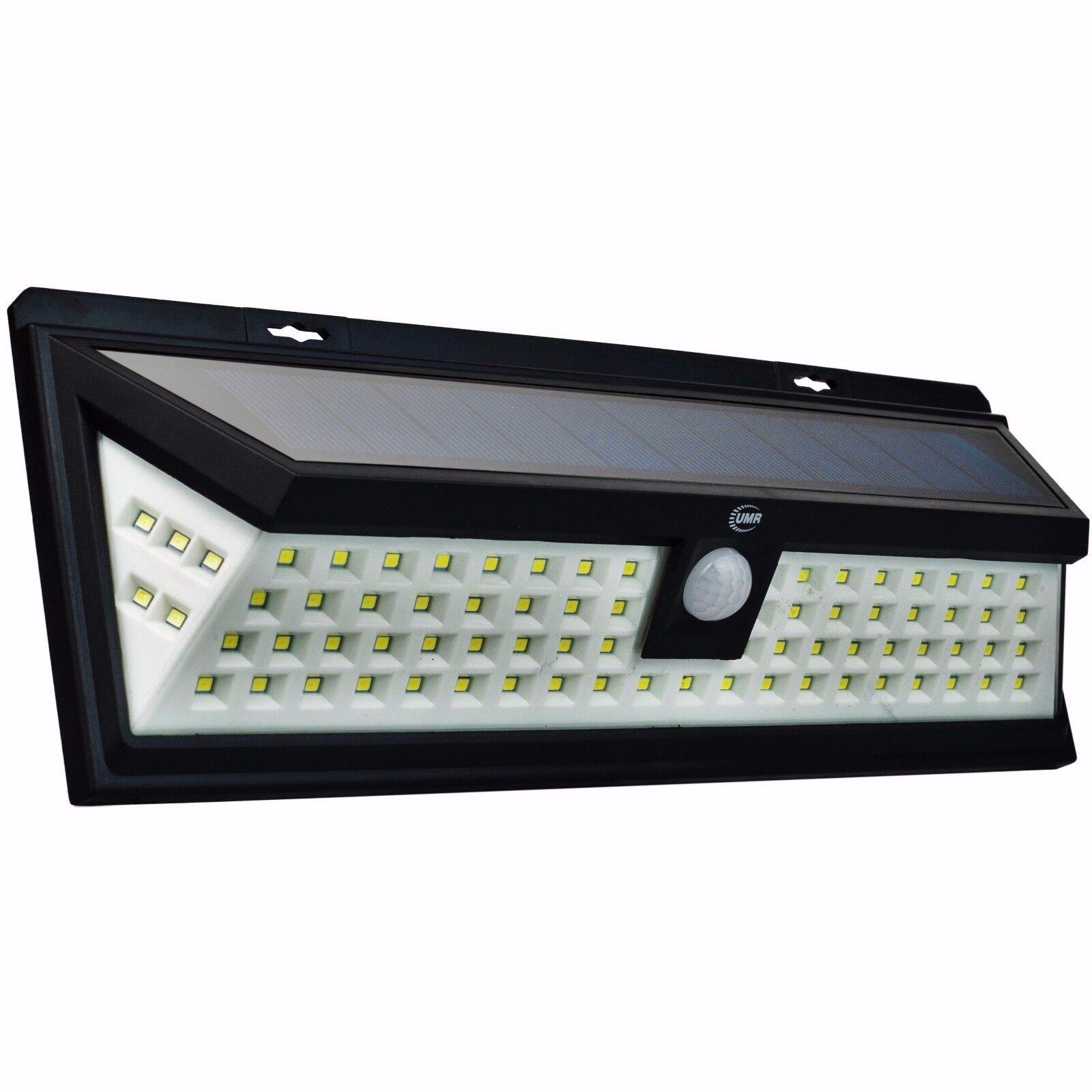 80 LED Solar Security Light Dusk to Dawn | BRIGHT Outdoor Motion Sensor Lighting