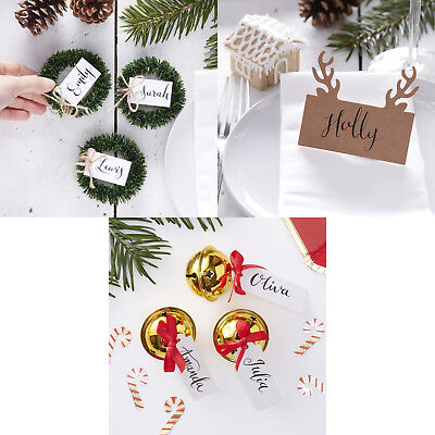RUSTIC / VINTAGE CHRISTMAS PLACE CARDS Christmas Table Decor Name Place Setting ](Halloween Name Place Cards)