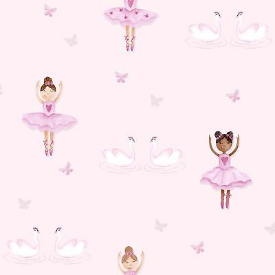 BALLERINA WALLPAPER PINK - HOLDEN DECOR 12460 NEW GIRLS