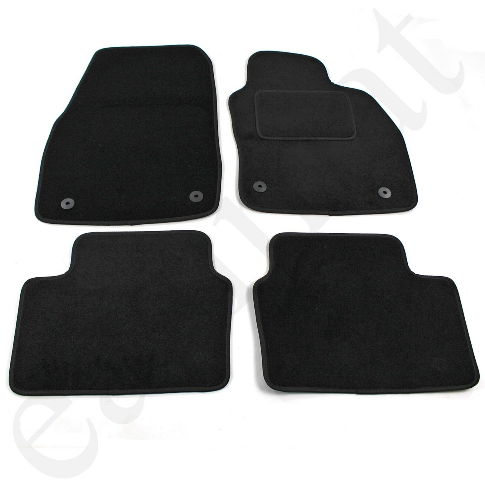 Car Parts - Vauxhall Astra H Mk5 2004-2009 Tailored Carpet Car Mats Black 4pc Floor Mat Set