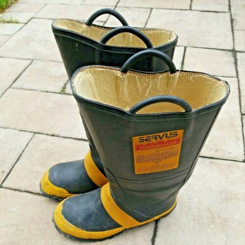 Vintage Servus Firefighter Firebreaker Boots Size 9M 10W Wide Steel Toe