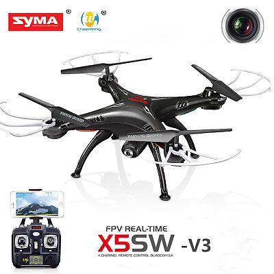 Syma X5SW-V3 Wifi FPV Explorers 2.4G 4CH RC Quadcopter Drone HD Camera UFO Nefarious