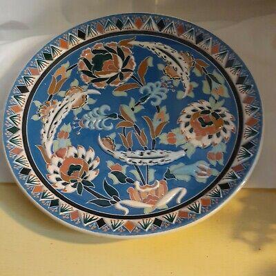 Vintagte Kutahya Turkey Handmade Plate Signed Gini Kutahya