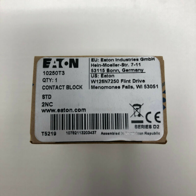 Eaton 10250T3 Contact Block T5219