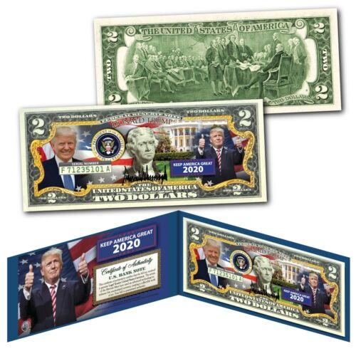 DONALD TRUMP - Keep America Great 2020 - Genuine Legal Tender U.S. $2 Bill * NEW