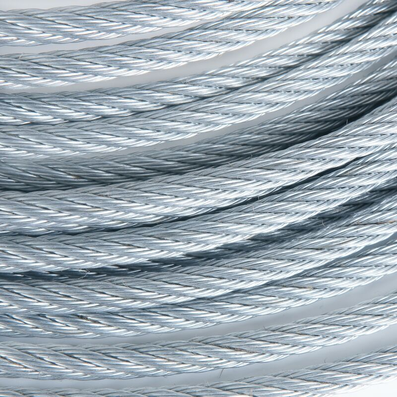 """1/2"""" Galvanized Wire Rope Steel Cable IWRC 6x19 (100 Feet)"""