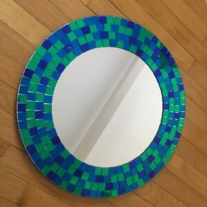 Blue and green mirror